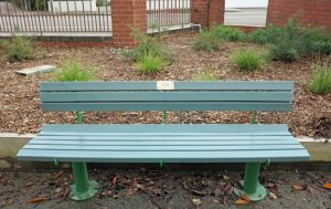 Civic Memorial Seat recycled plastic slats