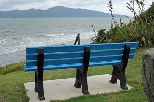 Kimberley Seat overlooking Kapiti Island