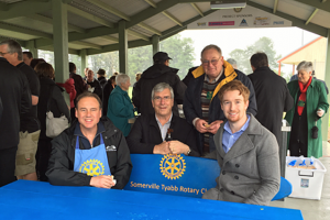 Somerville Tyabb Rotary Club's recycled plastic seat