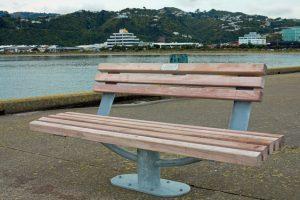 Seaview Memorial Seat surface mounted